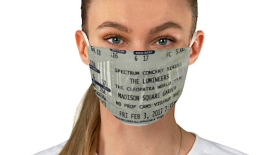 The Lumineers Concert Ticket Face Mask