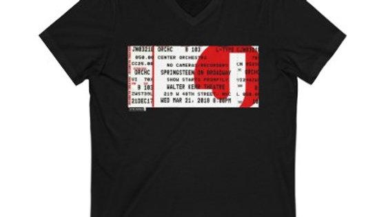 Bruce Springsteen On Broadway Concert  Unisex Jersey V-Neck Te