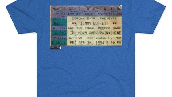 Jimmy Buffett Concert  Men's Tri-Blend Crew Tee