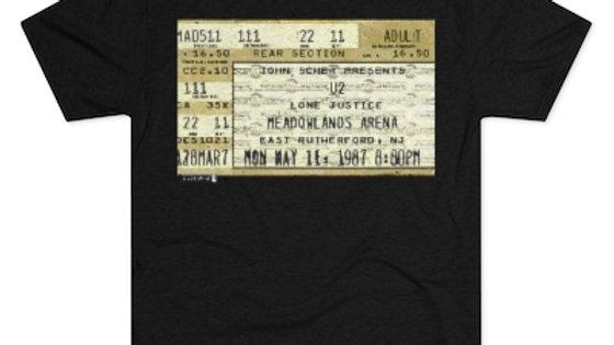 U2 Concert Ticket  Men's Tri-Blend Crew Tee