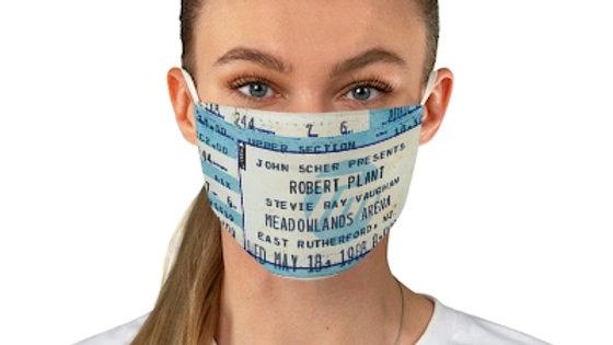 Robert Plant Concert Ticket Face Mask