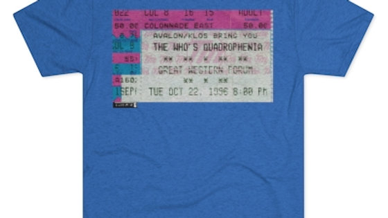 The Who Concert Men's Tri-Blend Crew Tee