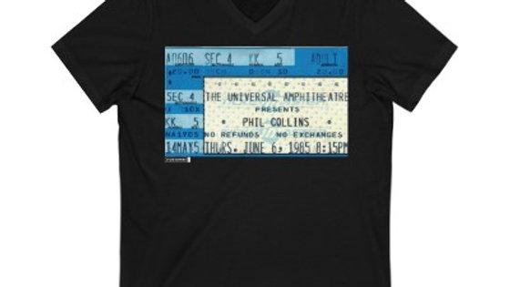 Phil Collins Concert Ticket Unisex Jersey V-Neck Tee