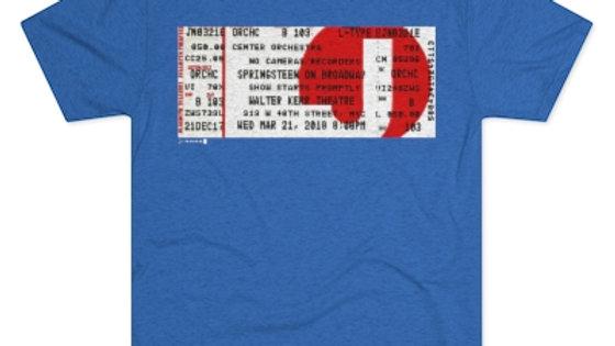 Bruce Springsteen On Broadway Concert Men's Tri-Blend Crew Tee