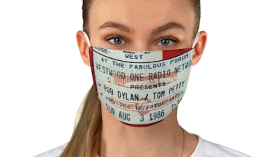Bob Dylan and Tom Petty Concert Ticket Face Mask