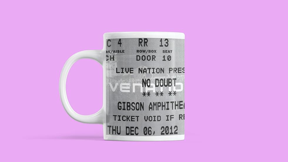 No Doubt Concert Ticket Stub Mug 11oz