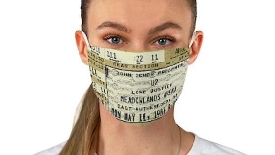U2 Concert Ticket Face Mask