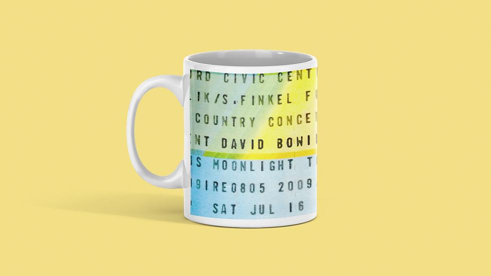 David Bowie Concert Ticket Mug
