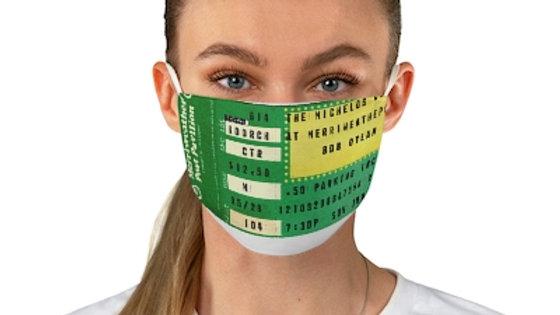 Bob Dylan Concert Ticket Face Mask