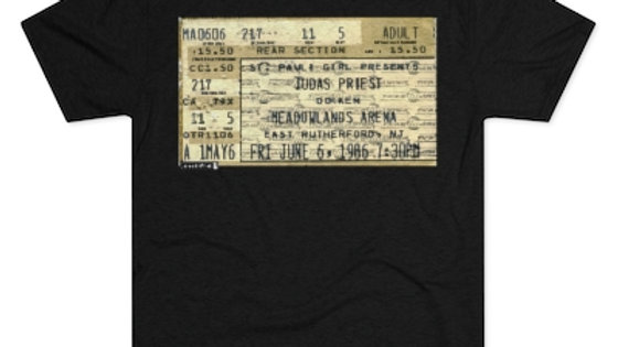 Judas Priest 1986 Concert Men's Tri-Blend Crew Tee