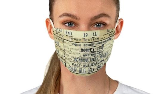 Motley Crue Concert Ticket Face Mask