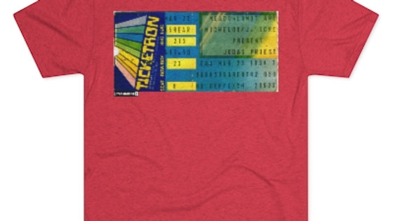 Judas Priest 1984 Concert Men's Tri-Blend Crew Tee