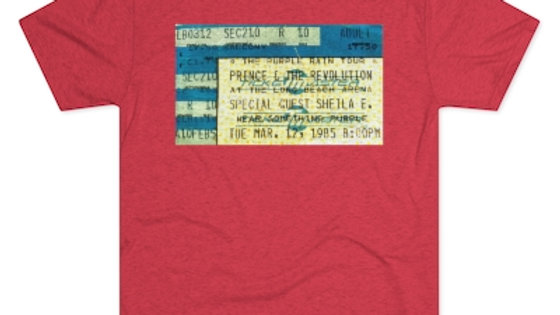 Prince with Sheila E Concert Men's Tri-Blend Crew Tee