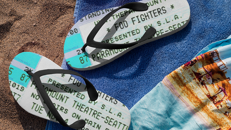 Foo Fighters Flip Flops