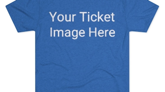 Custom Ticket Men's Tri-Blend Crew Tee