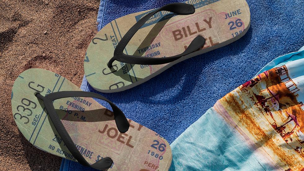 Billy Joel Flip Flops