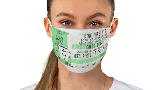 Chris Isaak Concert Ticket Face Mask