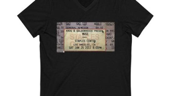 Muse Concert Ticket Stub Unisex Jersey V-Neck Tee