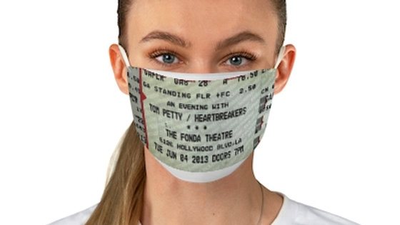 Tom Petty 2013 Concert Ticket Face Mask