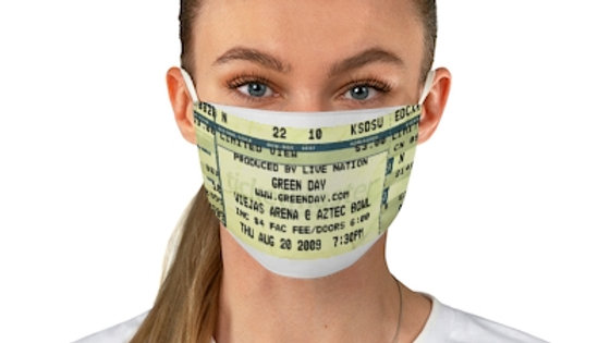 Green Day 2009 Concert Ticket Face Mask