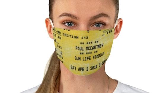 Paul McCartney 2010 Fabric Face Mask