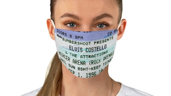 Elvis Costello Concert Ticket Face Mask