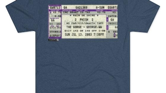 Phish Concert Stub, Men's Tri-Blend Crew Tee