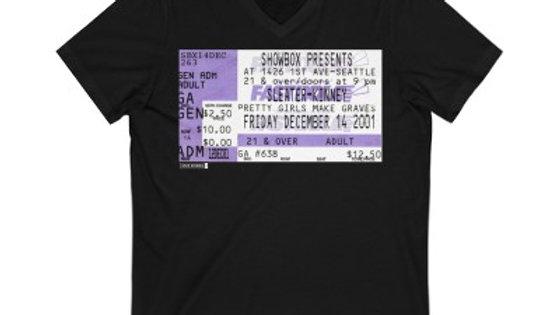 Sleater-Kinney Concert Unisex Jersey V-Neck Tee