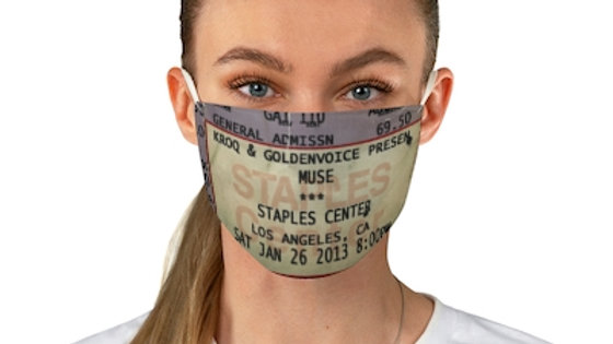 Muse Concert Ticket Face Mask