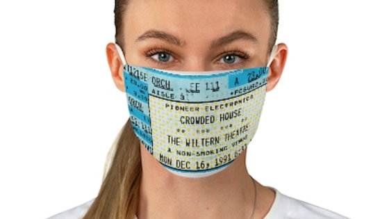 Crowded House Concert Ticket Face Mask