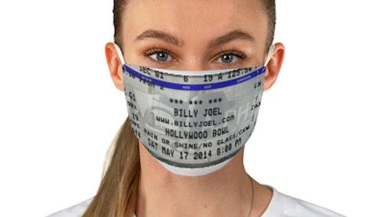 Billy Joel 2014 Concert Ticket Face Mask