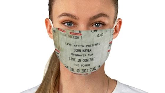 John Mayer 2017 Concert Ticket Face Mask