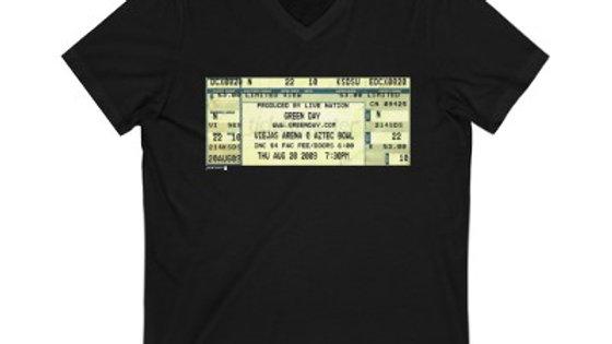 Green Day Concert Ticket Unisex Jersey V-Neck Tee