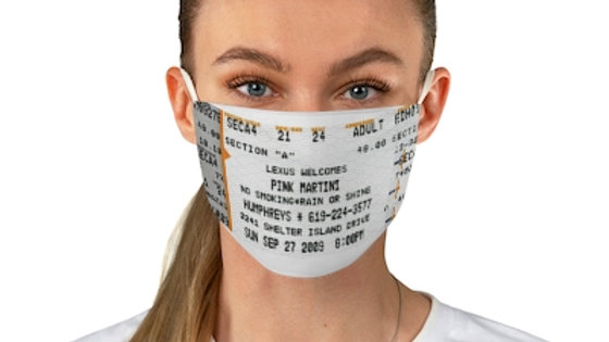 Pink Martini Concert Ticket Face Mask