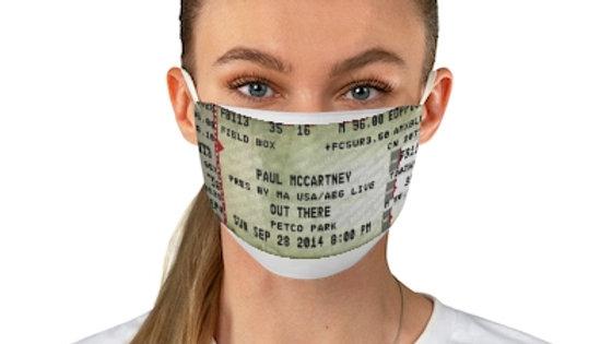 Paul McCartney 2014 Concert Ticket Face Mask