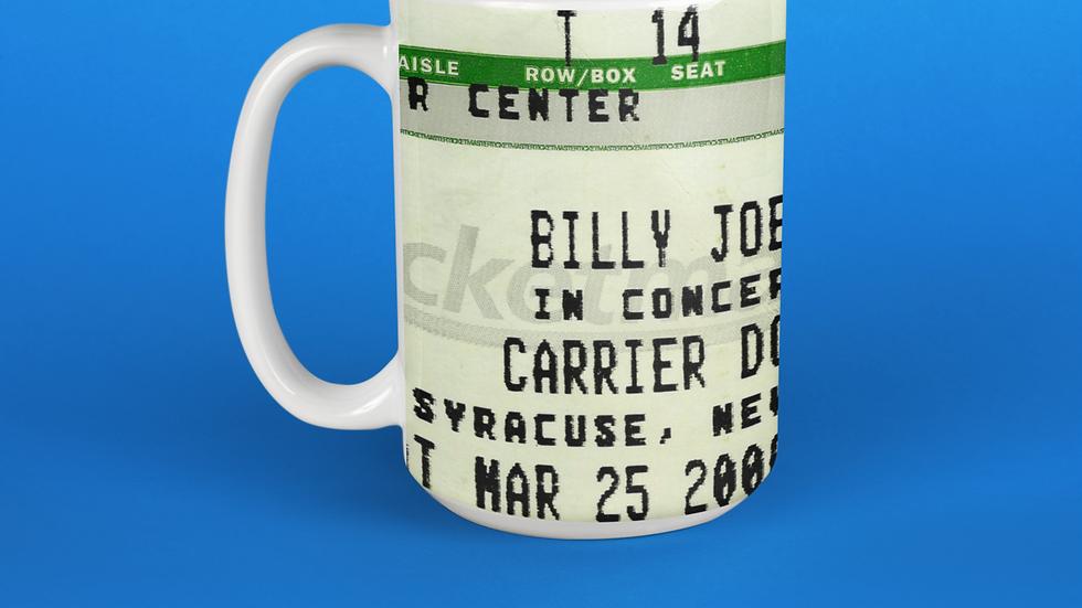 Billy Joel 2006 Concert Ticket Stub Mug 11oz