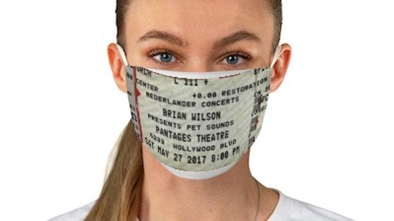 Brian Wilson 2017 Concert Ticket Face Mask