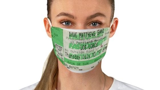 Dave Matthews and Los Lobos 1997 Concert Ticket Face Mask