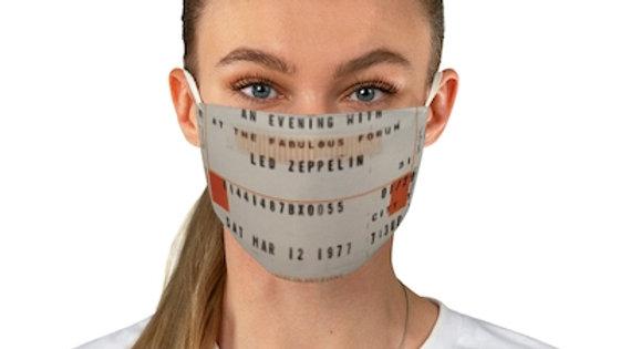 Led Zeppelin 1977 Fabric Face Mask