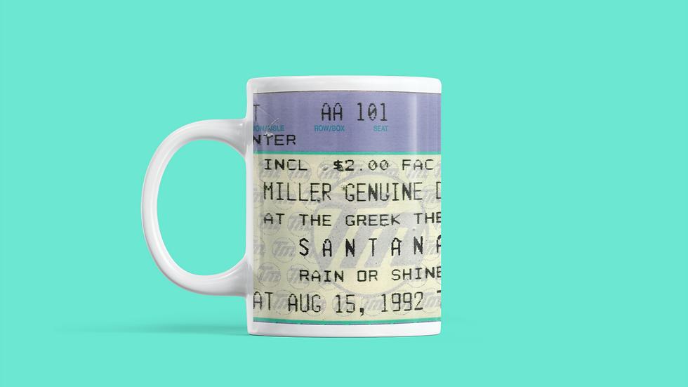 Santana Concert Ticket Mug