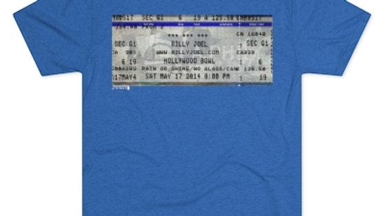 Billy Joel 2014 Concert Ticket Men's Tri-Blend Crew Tee