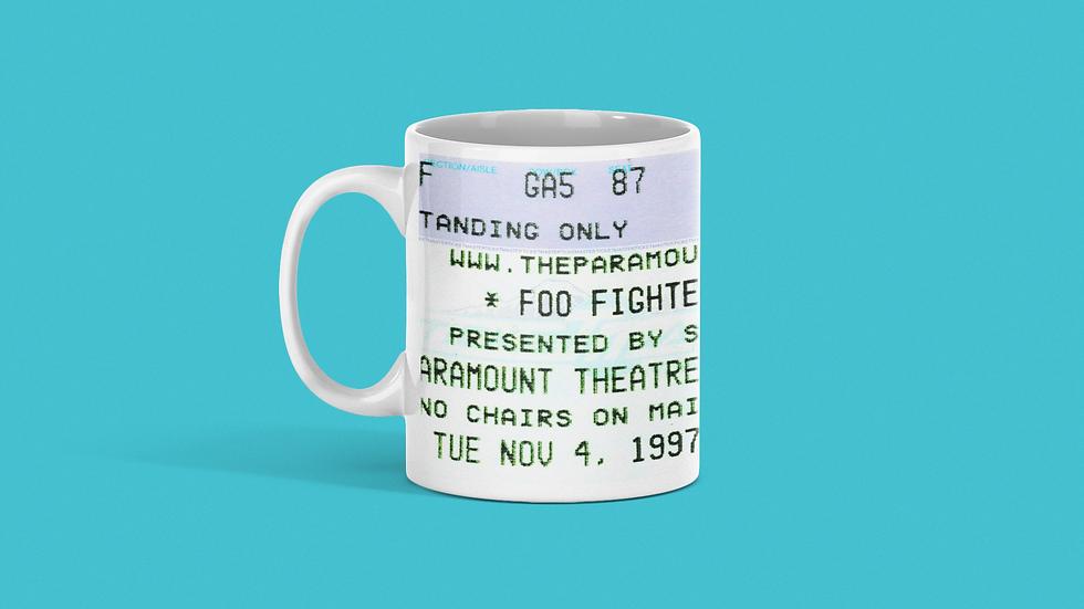 Foo Fighters Concert Ticket Mug