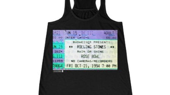 Rolling Stones Concert  Women's Flowy Racerback Tank