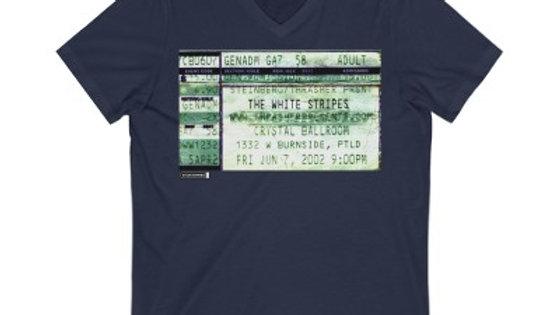 The White Stripes Concert  Unisex Jersey V-Neck Tee