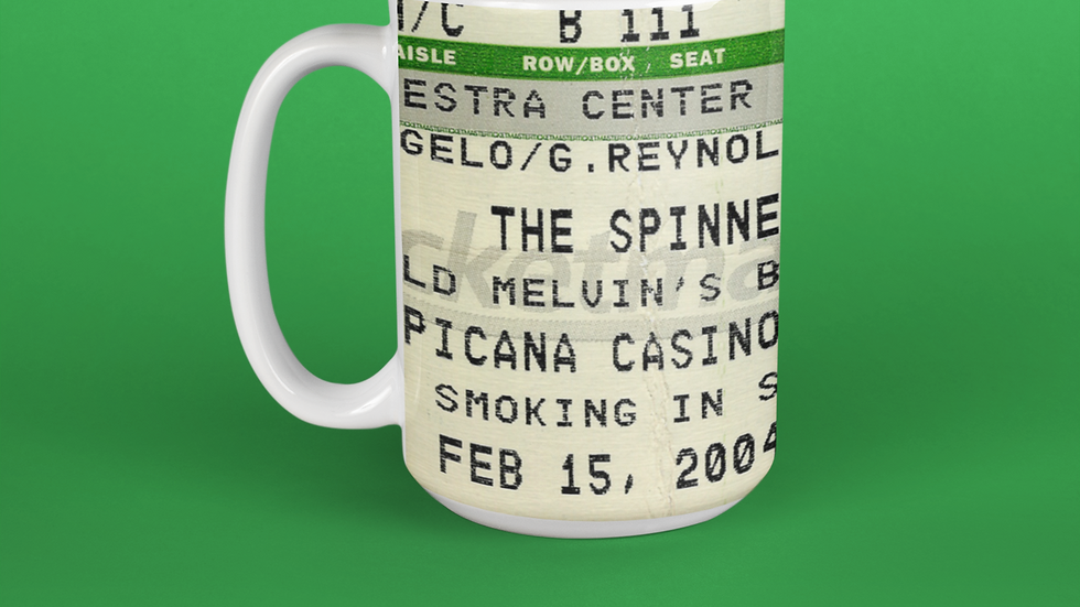The Spinners Concert Ticket Mug 11oz