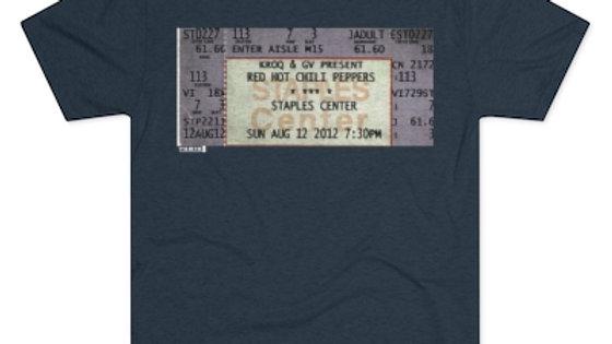 Red Hot Chili Pepper Concert Men's Tri-Blend Crew Tee