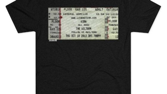 Korn Concert Ticket Men's Tri-Blend Crew Tee