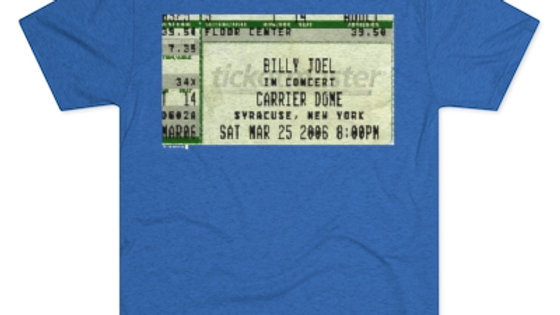 Billy Joel 2006 Concert Ticket Stub Men's Tri-Blend Crew Tee