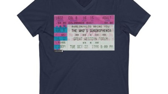 The Who Concert Unisex Jersey V-Neck Tee