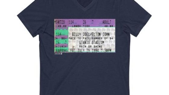 Billy Joel/Elton John Concert Unisex Jersey V-Neck Te